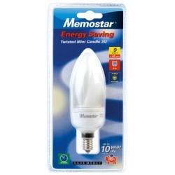 Ampoule éco-énergie 230V E14 9W