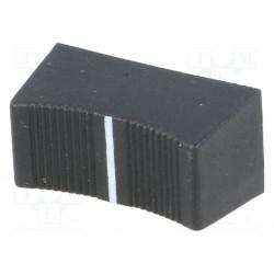 Bouton potentiomètre rectiligne 23x11mm noir axe 4mm