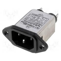 Embase IEC avec filtre secteur 10Amp. 250Vac