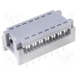 Connecteur dil à sertir 2,54mm 14pts