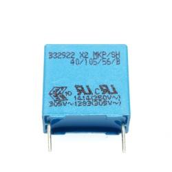 Condensateur X2 305Vac MKP 330nF au pas de 15mm
