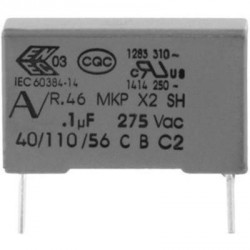 Condensateur X2 275Vac MKP 820nF au pas de 22mm