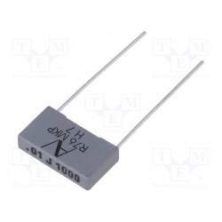 Condensateur Kemet 5% 10nF 1000V au pas de 15mm