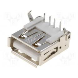 Embase USB type A coudée pour circuit imprimé