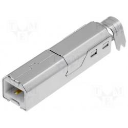 Fiche USB B mâle à souder