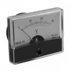 Galvanomètre voltmètre 0 à 300 Volts 70x60mm