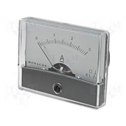 Galvanomètre ampèremètre 0 à 3 Ampères 70x60mm