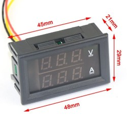 Module voltmètre ampéremètre numérique 0 à 100Vdc / 0 à 50Amp
