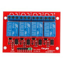 Carte de commande 4 relais optocouplés 5Vdc 1R/T