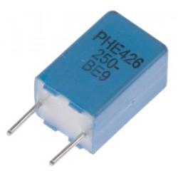 Condensateur polypropylène PP ±5% 100nF 160Vac / 250Vdc au pas de 5mm
