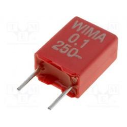 Condensateur Wima type MKS2 250V 100nF au pas de 5mm