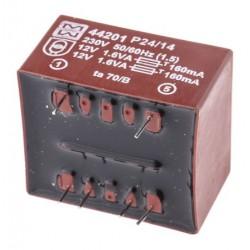 Transformateur moulé 230Vac / 2x12Vac 3,2VA