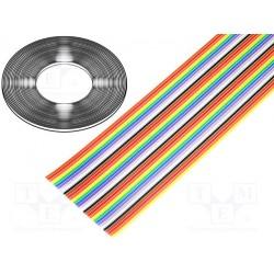 Câble en nappe AWG28 au pas de 1,27mm 34cdts couleur