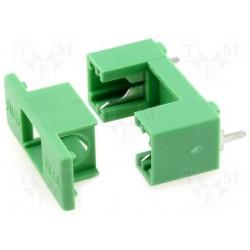 Porte-fusible 5x20mm pour C.I. + capot pas 22mm