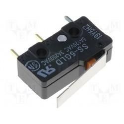Microswitch à levier droit pour circuit imprimé