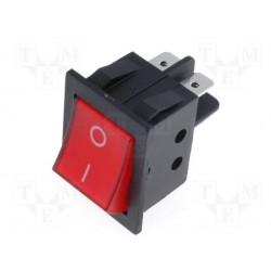 Interrupteur bipolaire clipsable rouge 15Amp. 250V