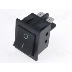 Interrupteur bipolaire clipsable noir