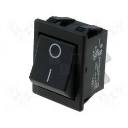 Interrupteur à bascule bipolaire off / mom 16Amp. découpe 30x22mm