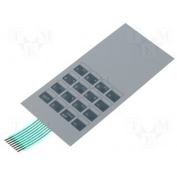 Clavier souple 16 touches X/Y 155x71mm