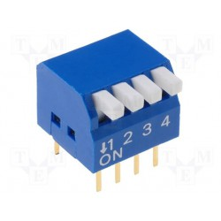 Inter dip-switch 4 contacts dil8 type piano