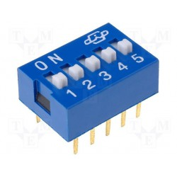 Inter dip-switch 5 contacts dil10
