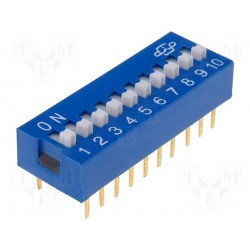 Inter dip-switch 10 contacts dil20
