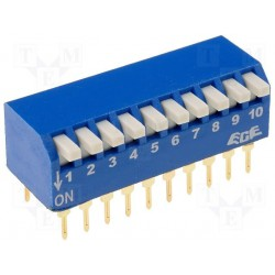 Inter dip-switch 10 contacts dil20 type piano