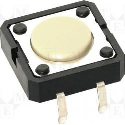 Touche contact pour circuit imprimé 12x12x4,3mm
