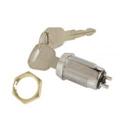 Contact à clé 1 contact travail 19mm avec 2 clés