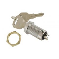 Contact à clé 1 repos / 1 travail 19mm avec 2 clés