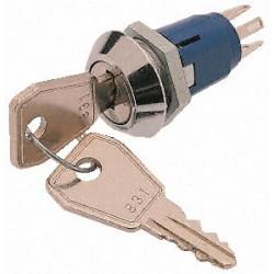 Contact à clé 1 contact repos / travail16mm