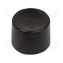 Cabochon plastique rond noir Apem