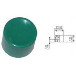 Cabochon plastique rond vert Apem
