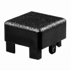 Capot pour touche type D6 carré noire