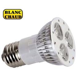 Ampoule E27 à 3 led 1W blanche chaud