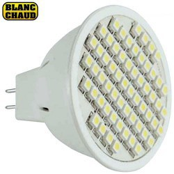 Lampe GU5.3 MR16 à 48 led blanches 6-17V 3W