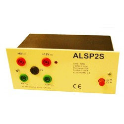Alimentation stabilisée 230Vac - 6/12V continu/alternatif 1,5 ampère