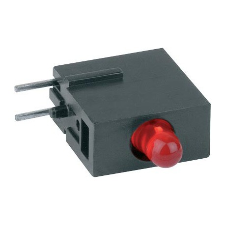 Diode led 3mm rouge support coudée pour C.I.
