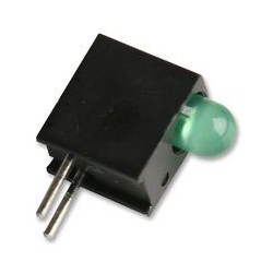 Diode led 3mm verte support coudée pour C.I.