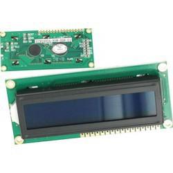 Afficheur alphanumérique LCD 2x16 caractères rétroéclairé bleu 80x36mm