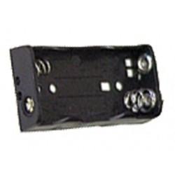 Coupleur 2 piles R6 - AA à plat à pression 6F22