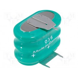 Accu Ni-Mh 3,6V 150mA pour circuit imprimé