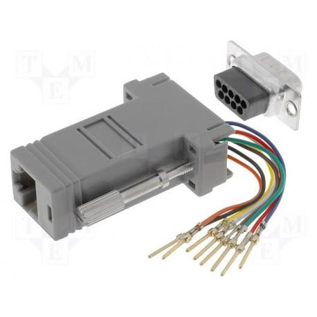 Adaptateur RJ45 / Sub/d 9pts mâle à câbler