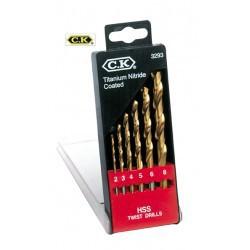 Coffret 6 forets bois / métaux Ø de 2 à 8mm