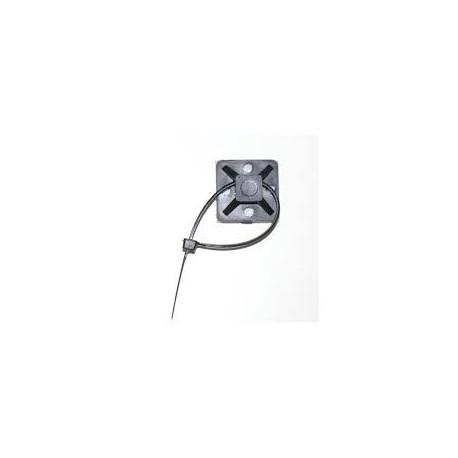 100 embases adhésives pour colliers 28x28mm