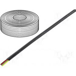 Câble plat AWG26 4cdts RJ9/11 noir