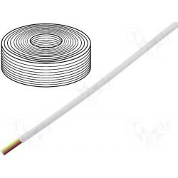 Câble plat AWG26 4cdts RJ9/11 blanc