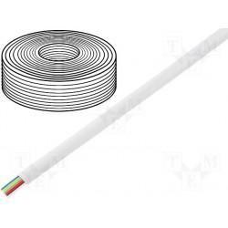 Câble plat AWG26 6cdts RJ12 blanc