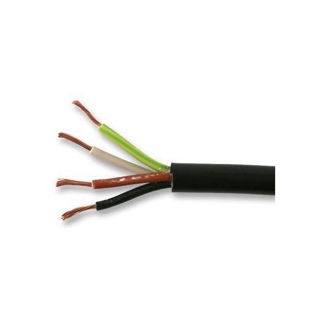 Câble gainé souple 4x0.75mm² noir