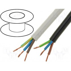 Câble gainé PVC souple 3x1,5mm² blanc